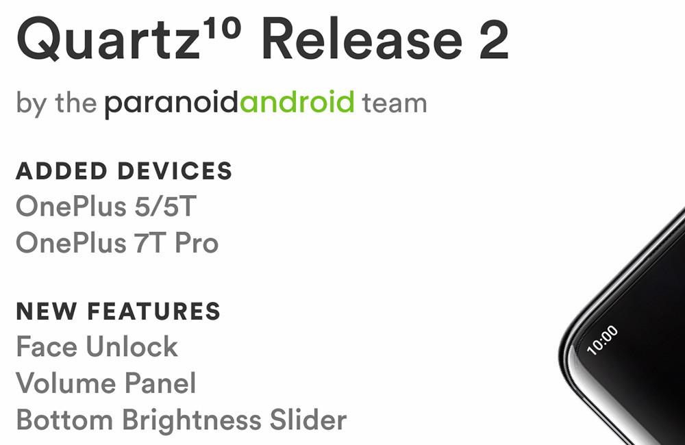 Paranoid Android basado en Android 10 añade soporte para OnePlus 5, 5T, y 7T Pro, con nuevas funciones