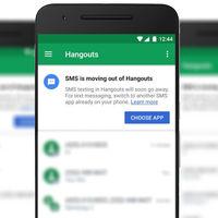 Hangouts perderá la función de SMS el próximo 22 de mayo
