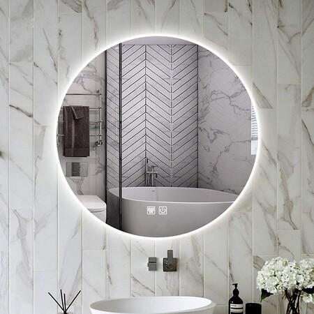 espejo redondo lavabo retroiluminado