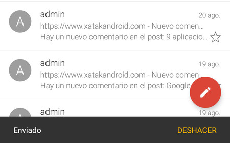 Gmail para Android ya permite deshacer el envío de un correo electrónico