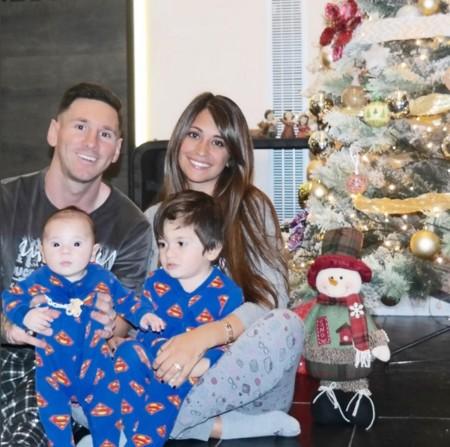Messi Familia Navidad