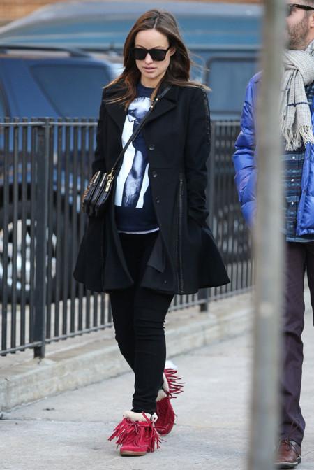 Olivia Wilde botas embarazo