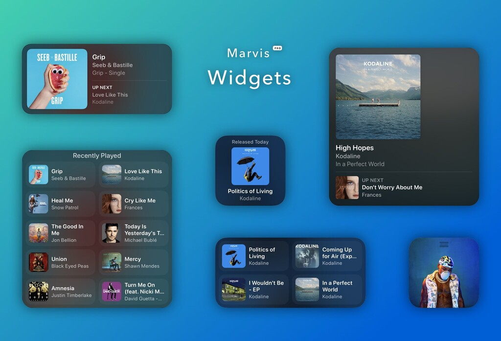 Marvis Pro, el reproductor alternativo para Apple Music, se actualiza con nuevos widgets para iOS 14
