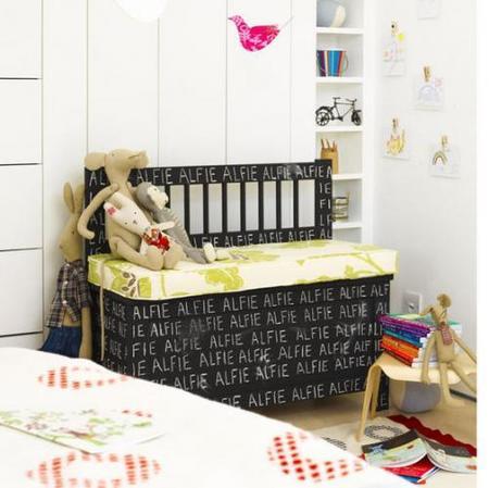 Una buena idea: pinta muebles del cuarto infantil en pizarra