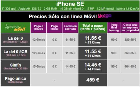 Precios Iphone Se Con Tarifas Yoigo