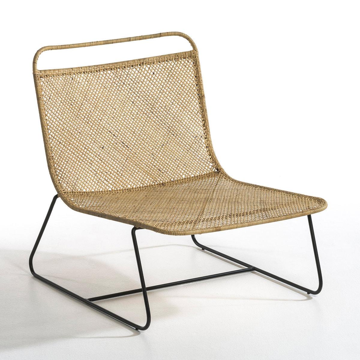 Sillón lounge trenzado Théophane, diseño de E.Gallina