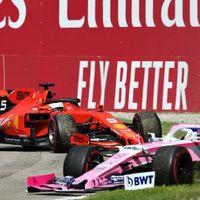 Sebastian Vettel evitó la bandera negra en Monza después de una reincorporación temeraria