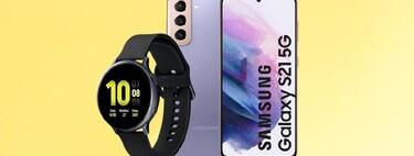 Rebaja bestial en este chollo pack: Samsung Galaxy S21 5G con el smartwatch Galaxy Watch Active 2 en Amazon a 858 euros