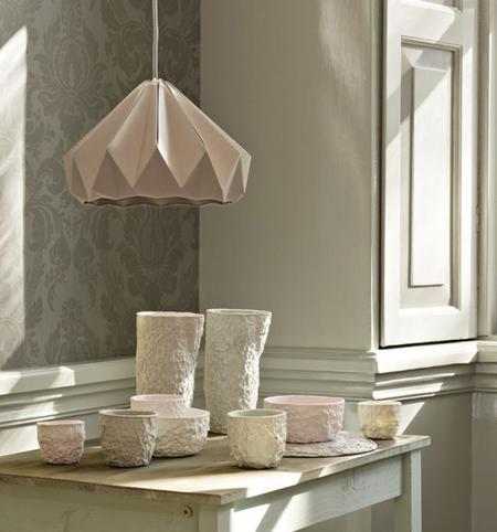 Las hermosas lámparas de papel origami del Studio Snowpuppe