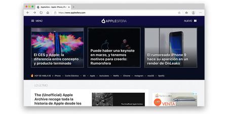 Microsoft Edge Applesfera