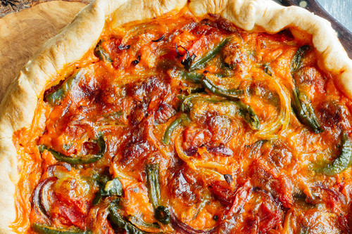 Quiche de verduras. Receta vegetariana fácil