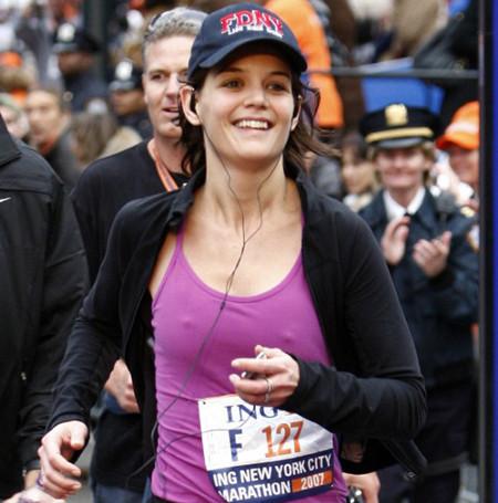 Katie Holmes, corredora de maratón