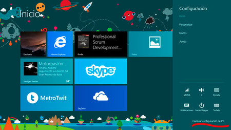 Windows 8.1, Configuración del PC