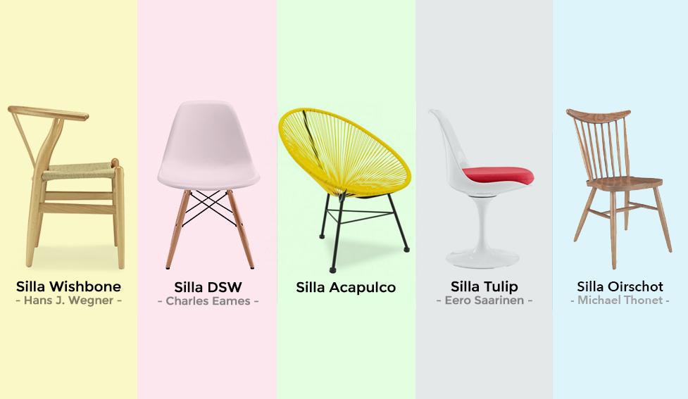 Top 5 sillas de dise o m s populares de todos los tiempos for Sillas de diseno online