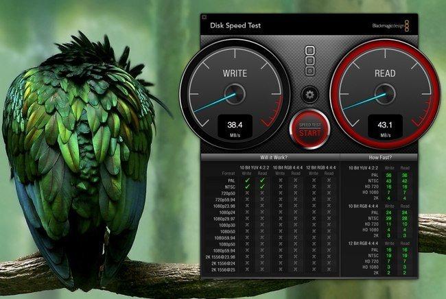Disk Speed Test en un iMac de 2008