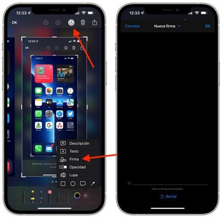 Crear Firma Iphone
