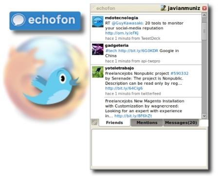 Echofon Plugin, usa twitter también desde Firefox
