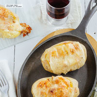 Papas al horno con jamón y queso Raclette. Receta para el Otoño