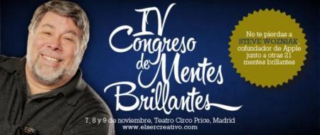 Steve Wozniak participará en el IV Congreso de Mentes Brillantes de Madrid del 7 al 9 de noviembre