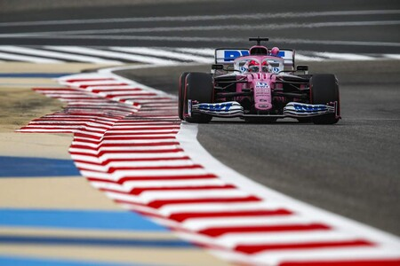 Sergio Perez Barein F1 2020