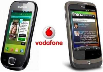 Precios Samsung Galaxy 3 y HTC Wildfire con Vodafone entre otros adelantos