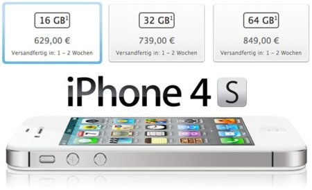 Comparativa de precios de toda la gama iPhone en Europa (iPhone 3GS vs. iPhone 4 vs. iPhone 4S)