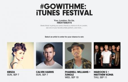 Apple empuja a Beats Music en una promoción del iTunes Festival