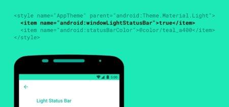 Android M ahora tiene iconos obscuros para barras de estado claras