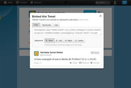 Twitter ya permite insertar tweets en otras páginas