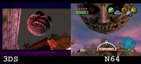 Video comparativo de Zelda: Majora's Mask 3DS vs. N64