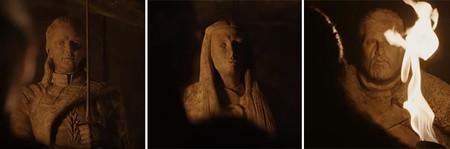 Estatuas Jon Sansa Y Arya Teorias Fans Juego De Tronos 2 Copia