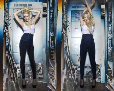 Lindsay Lohan posando muy provocativa para presentar su nueva colección para '6126'