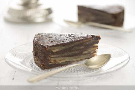 Racion De Bizcocho Invisible De Pera Y Chocolate