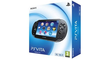 Caja europea y aplicaciones de lanzamiento de PS Vita