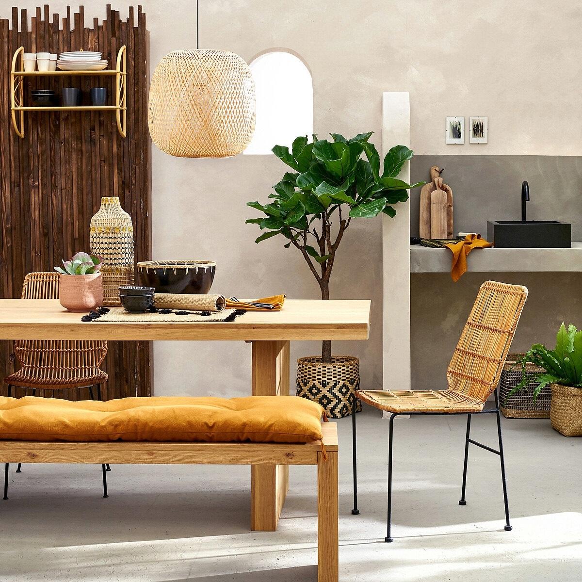 Pantalla de techo de bambú