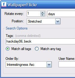 Flickr Wallpaper Rotator