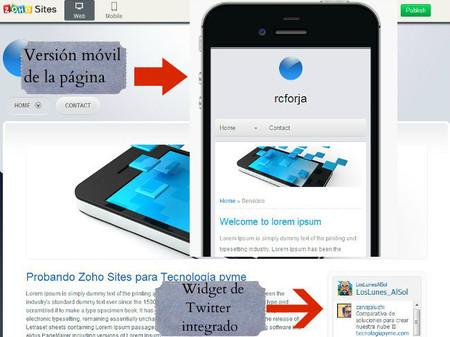 Versión móvil y contenido dinámico integrado