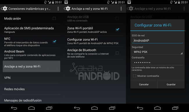 zona Wi-Fi en Android