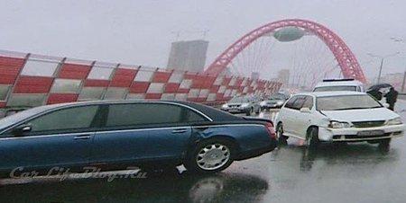 Accidente de Toyota RAV4 contra Maybach 62S