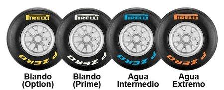 GP de Japón F1 2011: compuestos elegidos por Pirelli