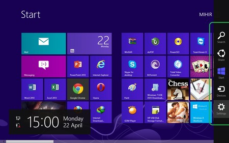 Windows 8 Charms Bar
