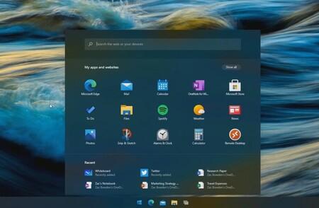 Menu Inicio En Windows 10x