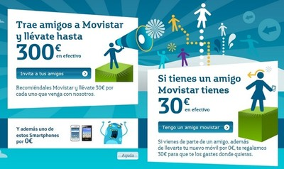 Movistar Vas de mi Parte, hasta 300 euros por llevar clientes a la operadora
