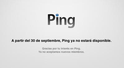 Apple programa para el 30 de septiembre la muerte de Ping