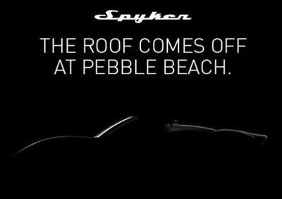 El Spyker B6 Venator Spyder se presentará en Pebble Beach