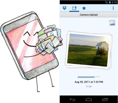 Dropbox actualiza su aplicación para Android con la opción de subir fotografías