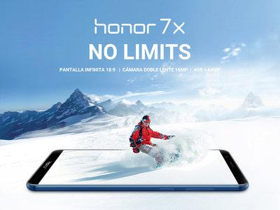 Oferta Flash: Huawei Honor 7X, con pantalla infinita y doble cámara, por 187 euros