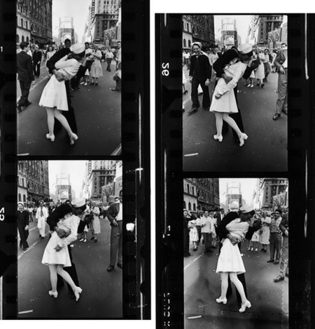 Historia de uno del beso más famoso de la Fotografía