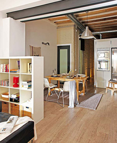 Tres originales ideas para separar ambientes Small loft apartment design