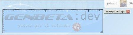 Medición del logo de GenbetaDev usando MeasureIt